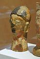 Cap votiu de terracotta, Puntal dels Llops, Museu de Prehistòria de València.JPG