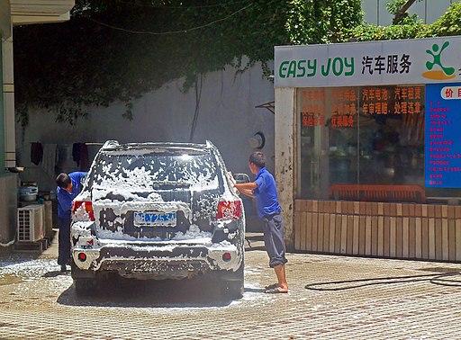 Car wash in Shenzhen, China