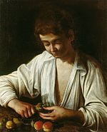 Caravaggio - A boy peeling fruit (Royal Collection).jpg