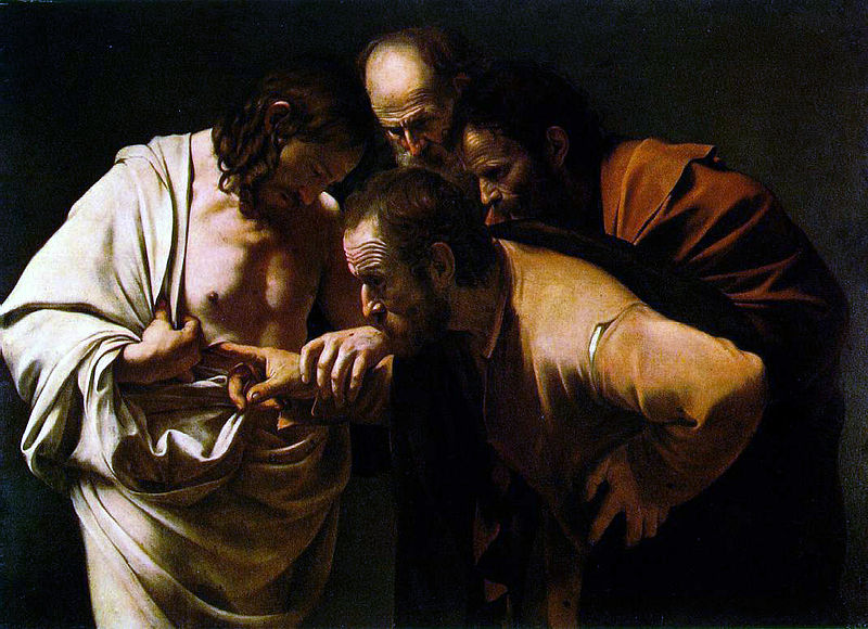 Caravaggio Doubting Thomas Resurrection Christ