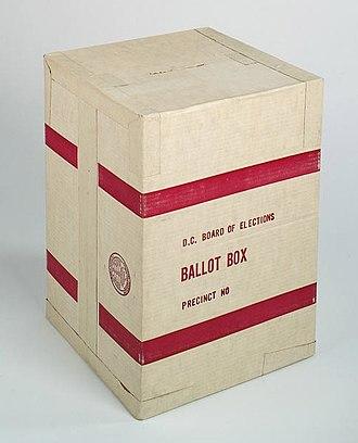Ballot box - Image: Cardboard ballot box Smithsonian