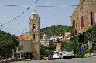 Cargèse - The Latin church (foreground) facing the Greek church (background).