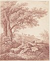 Carl Philipp Schallhas, Ancient Trees in a Pastoral Landscape, 1790-1795, NGA 107207.jpg