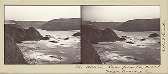 Albion River - The Albion River from the Coast (1863)