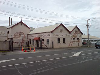 Te Papapa - A carpet factory in the south of the suburb