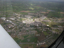 Carrickmacross, Aerial View, 12 April 2012