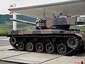 Carro de combate M41 Walker Bulldog, no Brasil rebatizado de M41C (Caxias), exposto no Posto Graal Maristela na Rodovia Castelo Branco - SP-280 km 198, próximo a cidade de Pardinho. - panoramio.jpg