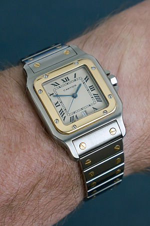 Cartier (jeweler) - Cartier Santos - steel/gold from 1988