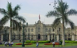 Water supply and sanitation in Peru - ''Casa de Pizarro'' is the official residence of the President.