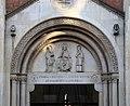 Casale monferrato, duomo, esterno 02 lunetta centrale del 1861 circa.jpg