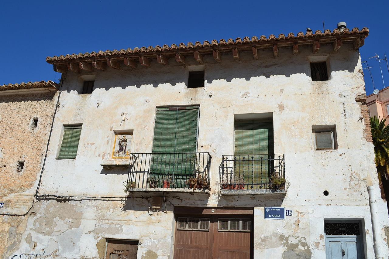 File casas antiguas en calle olba 13 15 valencia 02 jpg - Casas de pueblo en valencia ...
