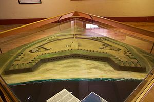 Fortifications of the Cape Peninsula - Model of Amsterdam Battery
