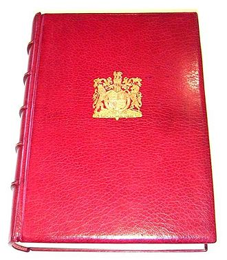 Royal Philatelic Collection - The catalogue of the collection, published 1952, here shown in the de-luxe leather bound edition out of the slip-case.