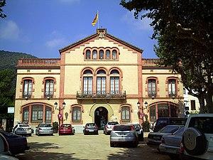 City hall of Premià de Dalt in Catalonia.