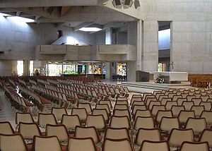 Clifton Cathedral - The interior of Clifton Cathedral. The walls are made from reinforced white concrete
