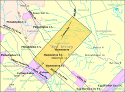 Census Bureau map of Hammonton, New Jersey