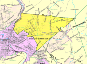 Lopatcong Township, New Jersey - Image: Census Bureau map of Lopatcong Township, New Jersey