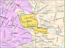 Census Bureau map of Marlton, New Jersey