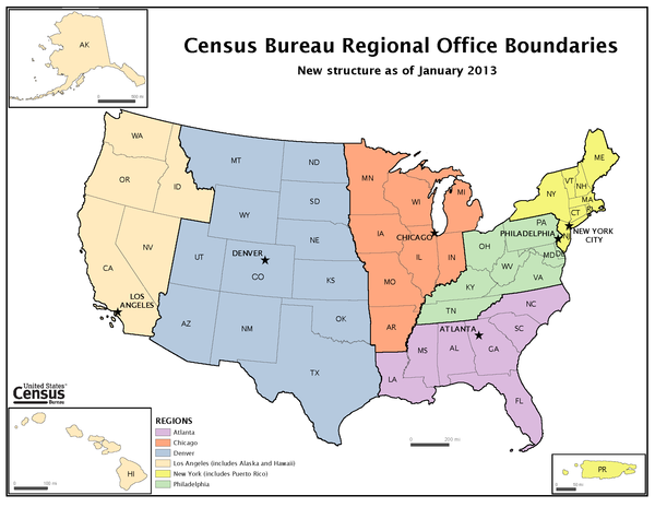Census Regions and Divisions of United States