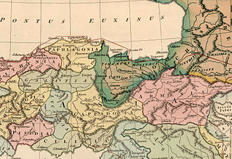 "Laz people - Boundaries of southern part of Colchis. From ""Reditus Decem Millium Graecorum"", 1815"