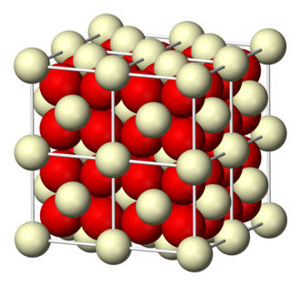 Cerium(IV) oxide - Image: Ceria 3D ionic