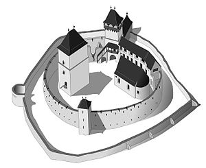 Câlnic Citadel - Plan of the fortification