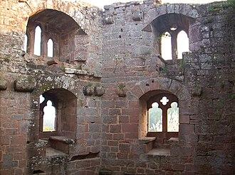 Château du Nouveau-Windstein - The inside of the keep