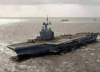 French Armed Forces - The Charles de Gaulle, the nuclear aircraft carrier of Marine nationale.