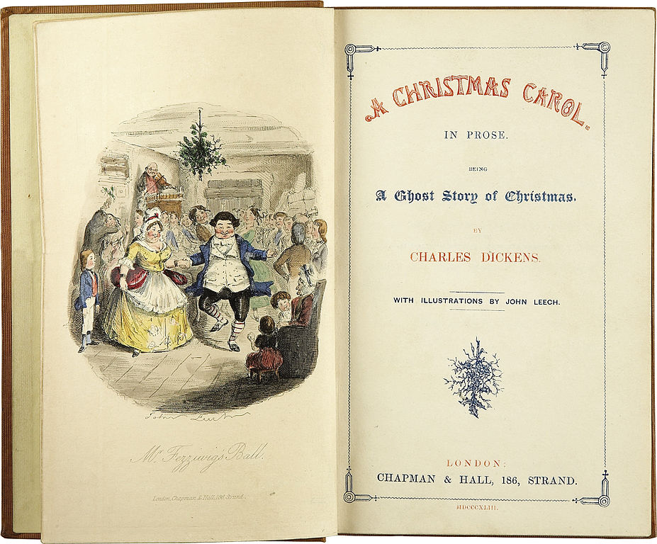 Charles Dickens A Christmas Carol Title Page