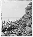 Charleston, South Carolina. Exterior view of Fort Sumter showing result of bombardment from August 17 to September 23, 1863 and chevaux-de-frise for protection against assault LOC cwpb.02296.jpg