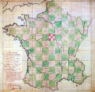 Departments of France - Geometrical proposition rejected