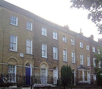 Charles Dickens - 2 Ordnance Terrace, Chatham, Dickens's home 1817 – May 1821