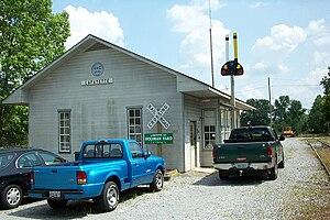 Chattooga and Chickamauga Railway - Image: Chattooga & Chickamauga yard office 05 14 04 009