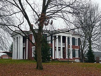 National Register of Historic Places listings in Maury County, Tennessee - Image: Cheairs Mansion Spring Hill TN