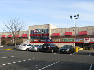 Cheltenham Township, Montgomery County, Pennsylvania - H-Mart on Cheltenham Avenue. Cheltenham, along with Upper Darby Township and West Philadelphia, are the areas around Philadelphia that have significant Korean populations.