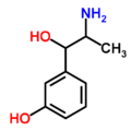 Chemical structure of meta-hydroxynorephedrine.png