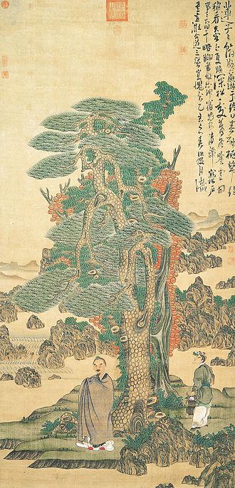 1635 in art - Image: Chen hongshou selfportrait,1635