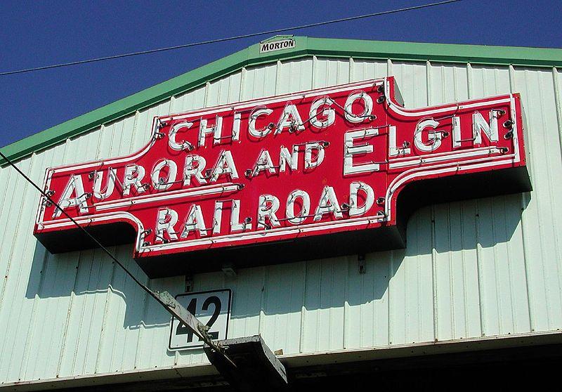File:Chicago Aurora and Elgin Railroad sign.jpg