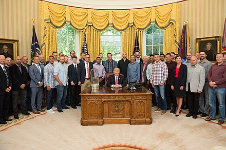 2016 Champions visit the White House in June 2017 Chicago Cubs with President Trump.jpg