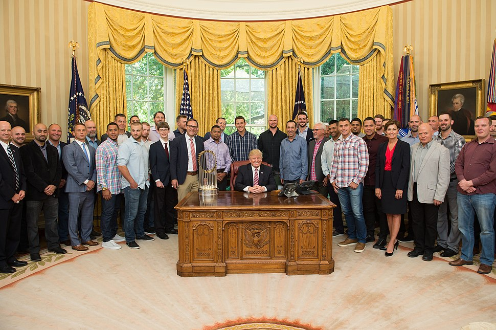 Chicago Cubs with President Trump