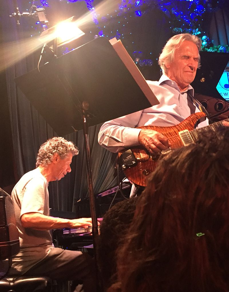 Chick Corea and John McLaughlin, Blue Note Jazz Club, New York City, 10 December 2016.jpg
