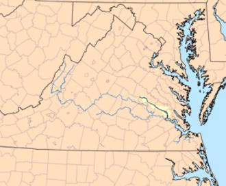 Chickahominy River - Image: Chickahominymap