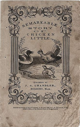 Henny Penny - Title page of The Remarkable Story of Chicken Little