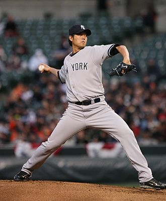 Chien-Ming Wang - Wang pitching for the New York Yankees in 2009