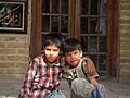 Children in Ribat-i-Abbasi of Nishapur (Hossein - Ali - Fatemeh - Hengameh and another girl - probably Afghani) 27.jpg