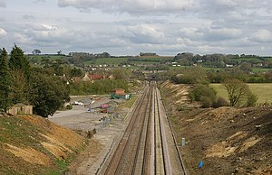 Chipping Sodbury railway station - The remains of the station viewed from the west.