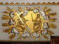 Choisy-au-Bac (60), église de la Sainte-Trinité, maître-autel, devant-d'autel.JPG