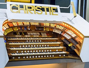 William Hill & Son & Norman & Beard Ltd. - The console of the Christie Organ at the Pavillon Baltard
