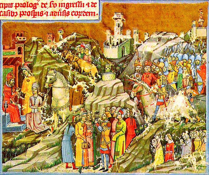 Fájl:Chronicon Pictum P021 A magyarok bejövetele.JPG
