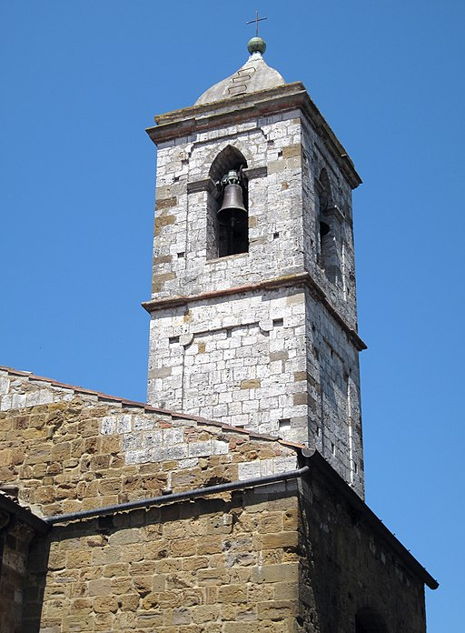 Church Tower and Bell in Trequanda